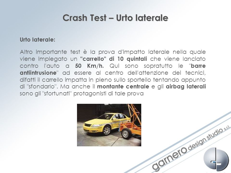 Crash Test – Urto laterale