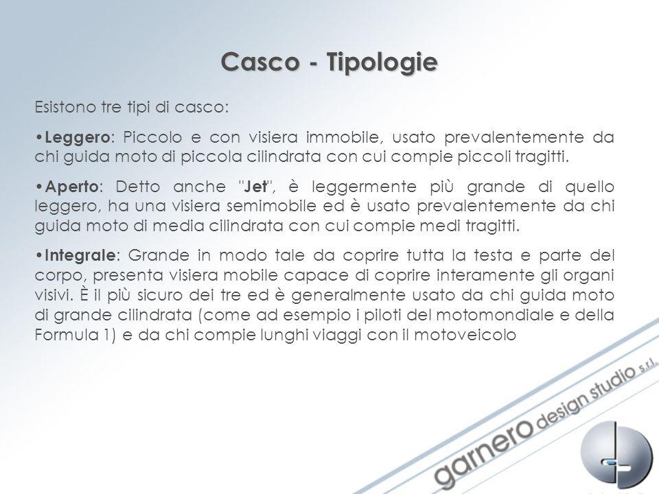 Casco - Tipologie Esistono tre tipi di casco: