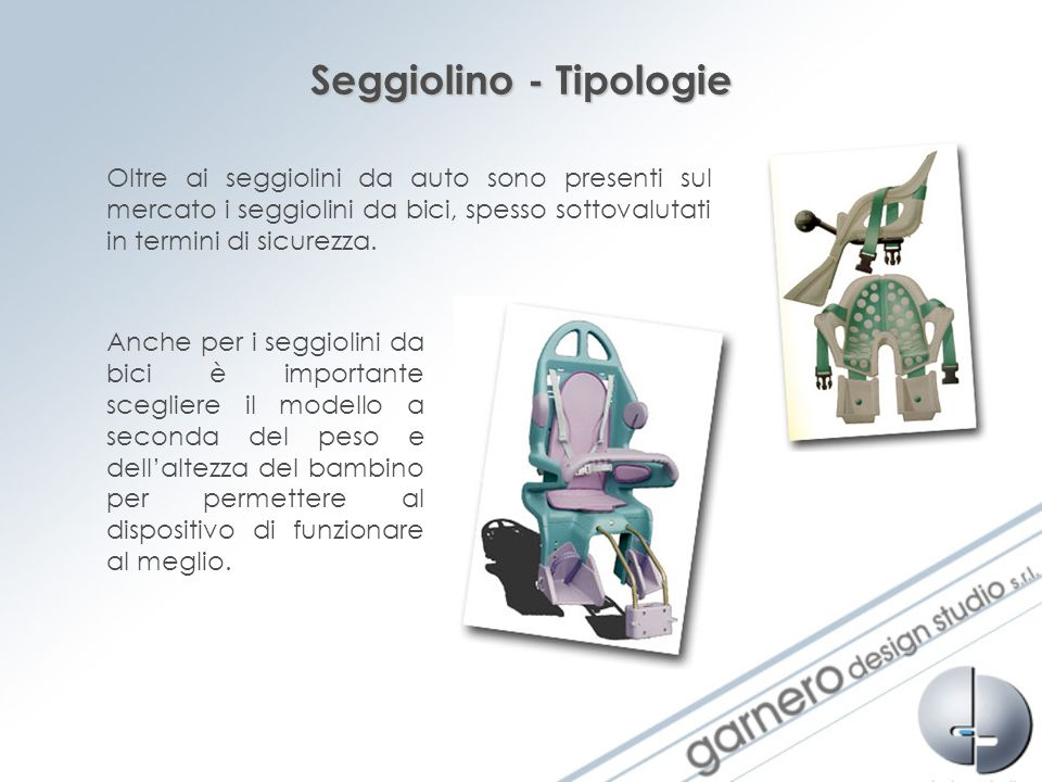 Seggiolino - Tipologie
