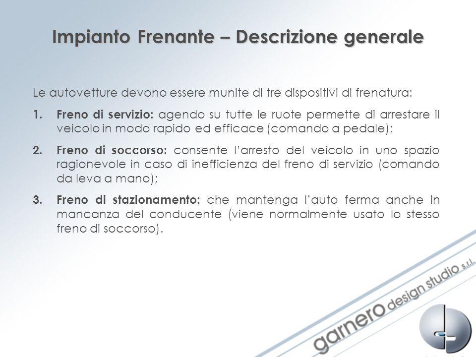 Impianto Frenante – Descrizione generale