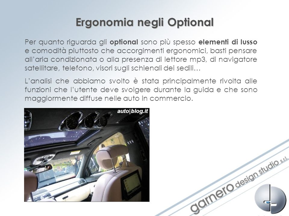 Ergonomia negli Optional