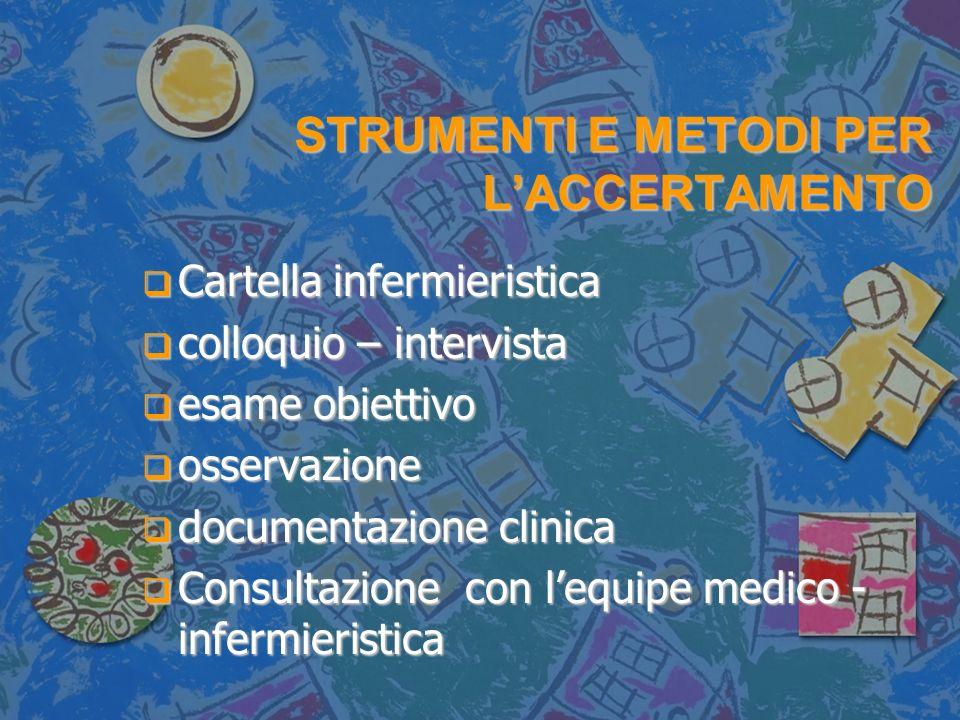 STRUMENTI E METODI PER L'ACCERTAMENTO
