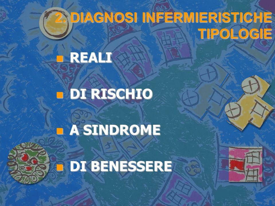 2. DIAGNOSI INFERMIERISTICHE TIPOLOGIE