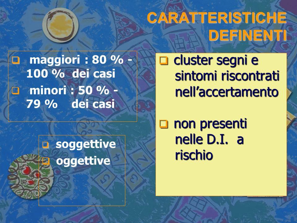 CARATTERISTICHE DEFINENTI