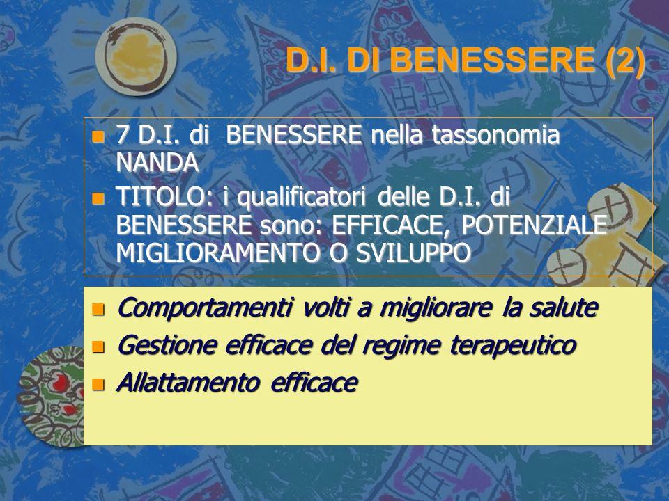 D.I. DI BENESSERE (2) 7 D.I. di BENESSERE nella tassonomia NANDA