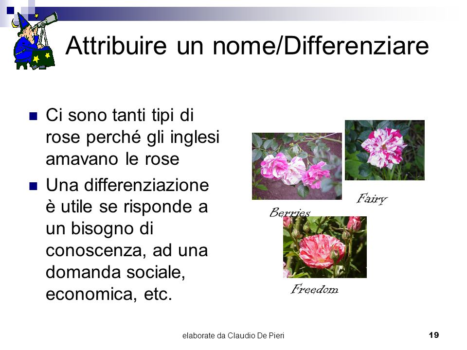 Attribuire un nome/Differenziare