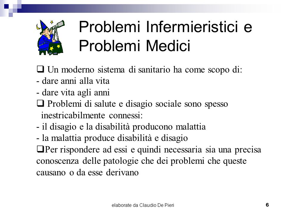 Problemi Infermieristici e Problemi Medici