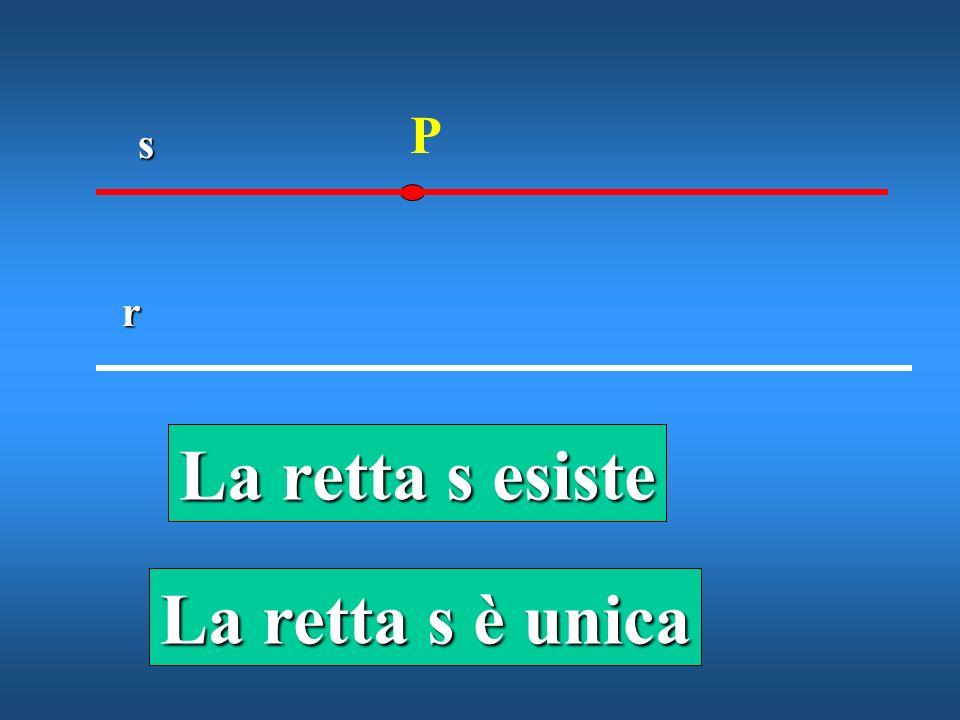 La retta s esiste La retta s è unica