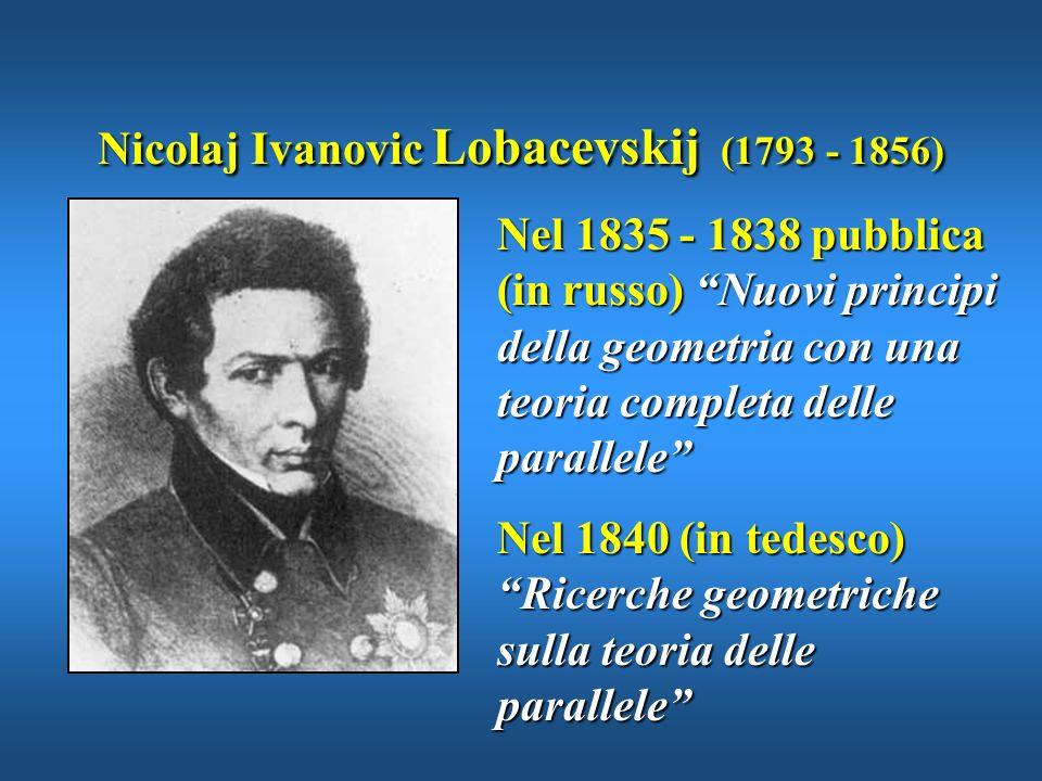Nicolaj Ivanovic Lobacevskij (1793 - 1856)