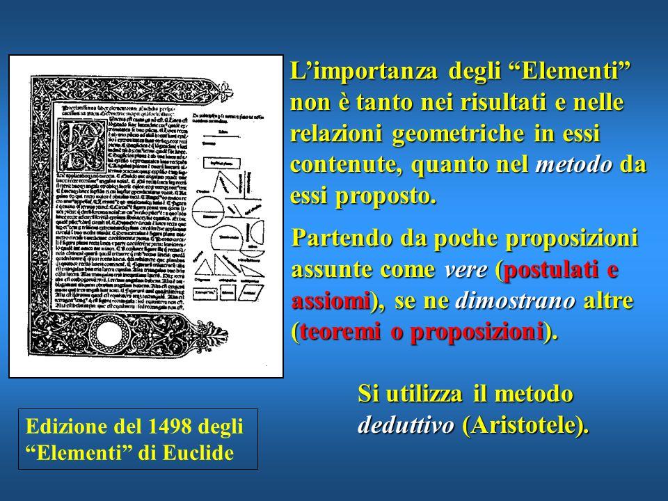 Si utilizza il metodo deduttivo (Aristotele).