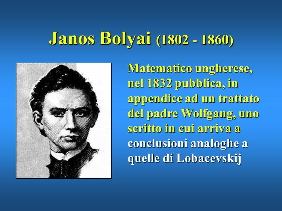 Janos Bolyai (1802 - 1860)