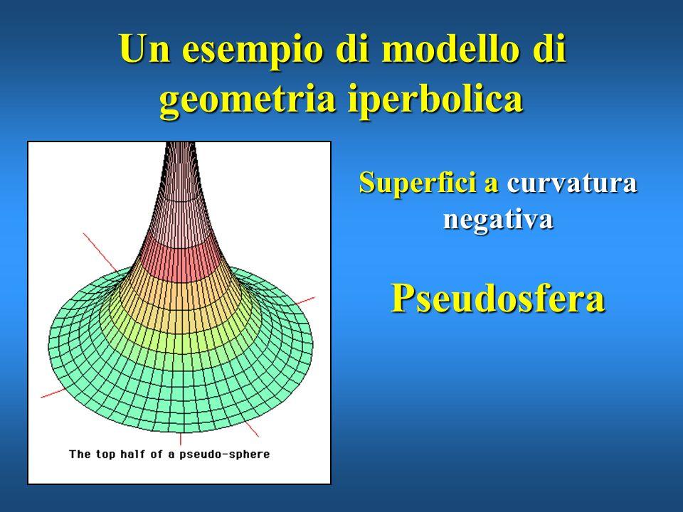 Un esempio di modello di geometria iperbolica