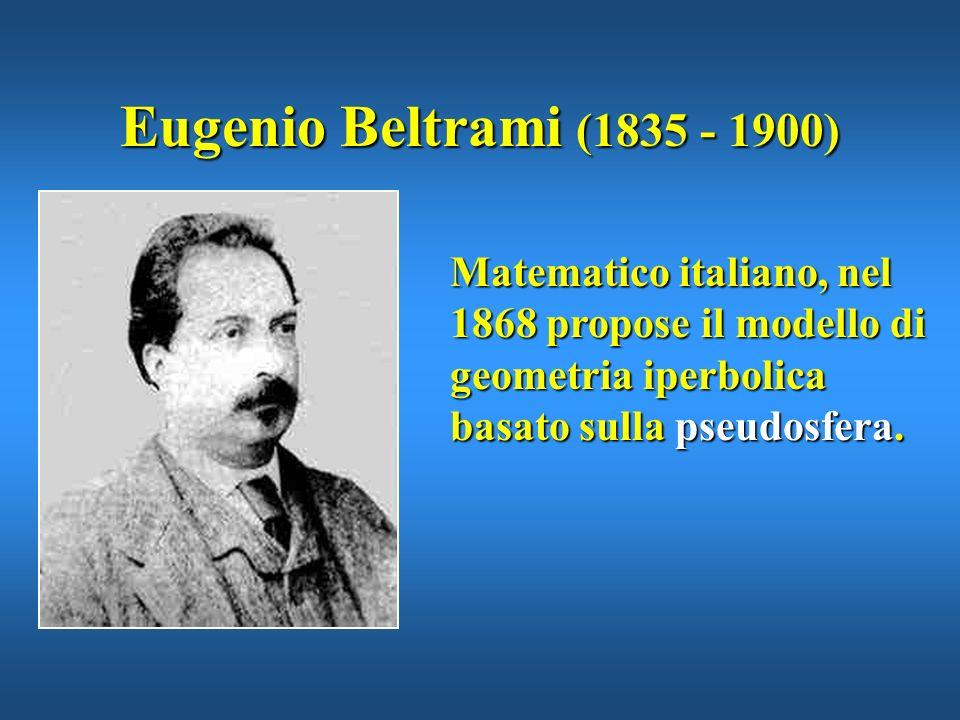 Eugenio Beltrami (1835 - 1900)Matematico italiano, nel 1868 propose il modello di geometria iperbolica basato sulla pseudosfera.