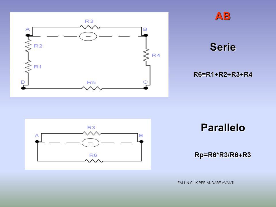 AB Serie Parallelo R6=R1+R2+R3+R4 Rp=R6*R3/R6+R3