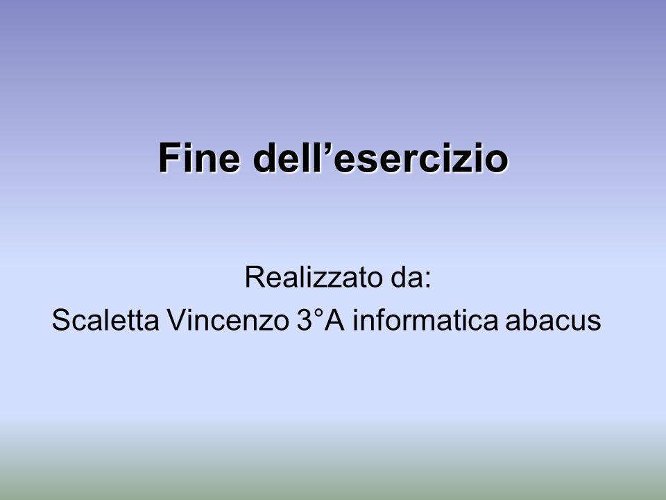 Realizzato da: Scaletta Vincenzo 3°A informatica abacus