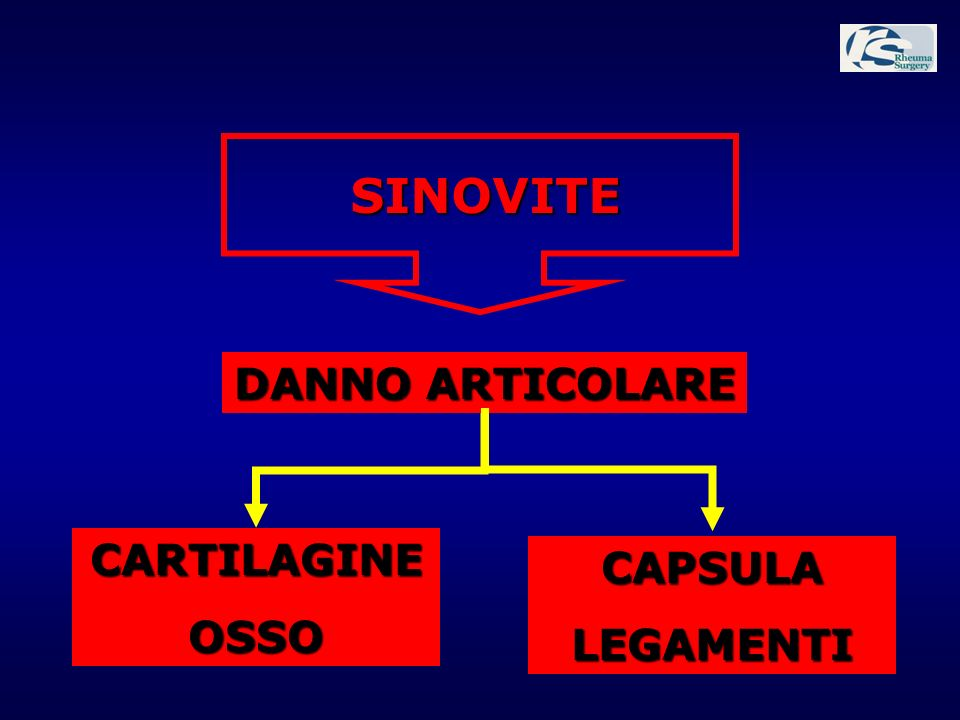 SINOVITE DANNO ARTICOLARE CARTILAGINE OSSO CAPSULA LEGAMENTI