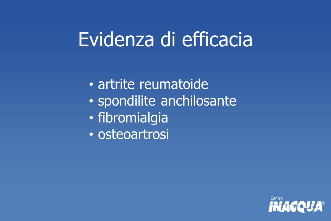 Evidenza di efficacia artrite reumatoide spondilite anchilosante