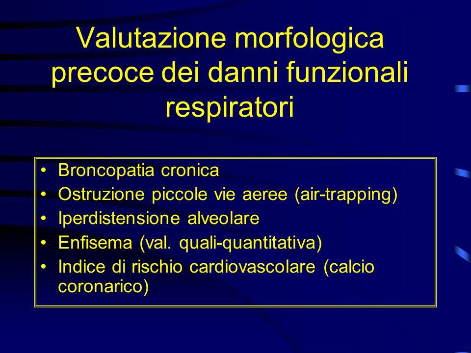 Valutazione morfologica precoce dei danni funzionali respiratori