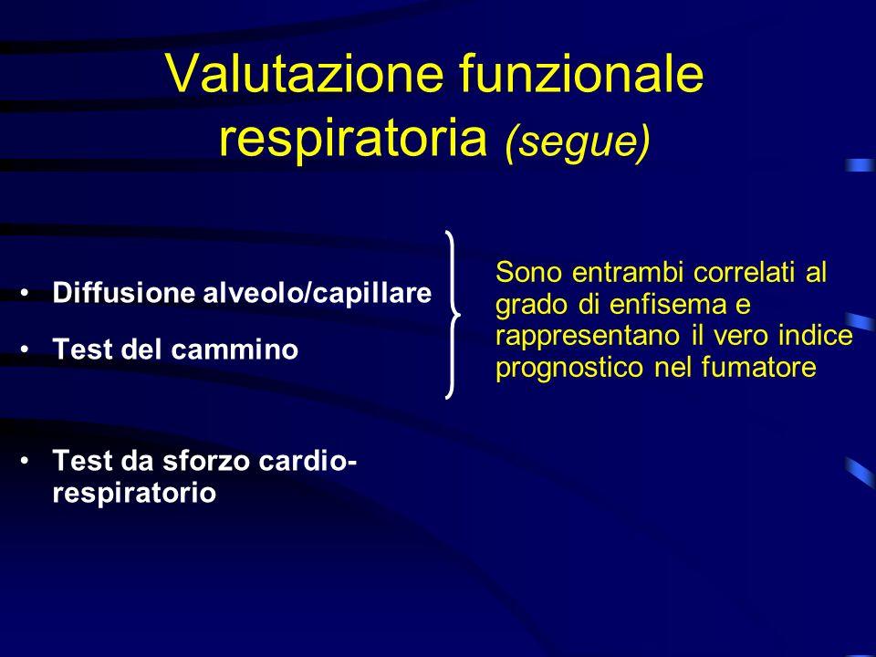 Valutazione funzionale respiratoria (segue)