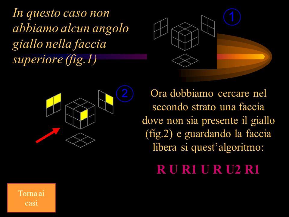 In questo caso non abbiamo alcun angolo giallo nella faccia superiore (fig.1)