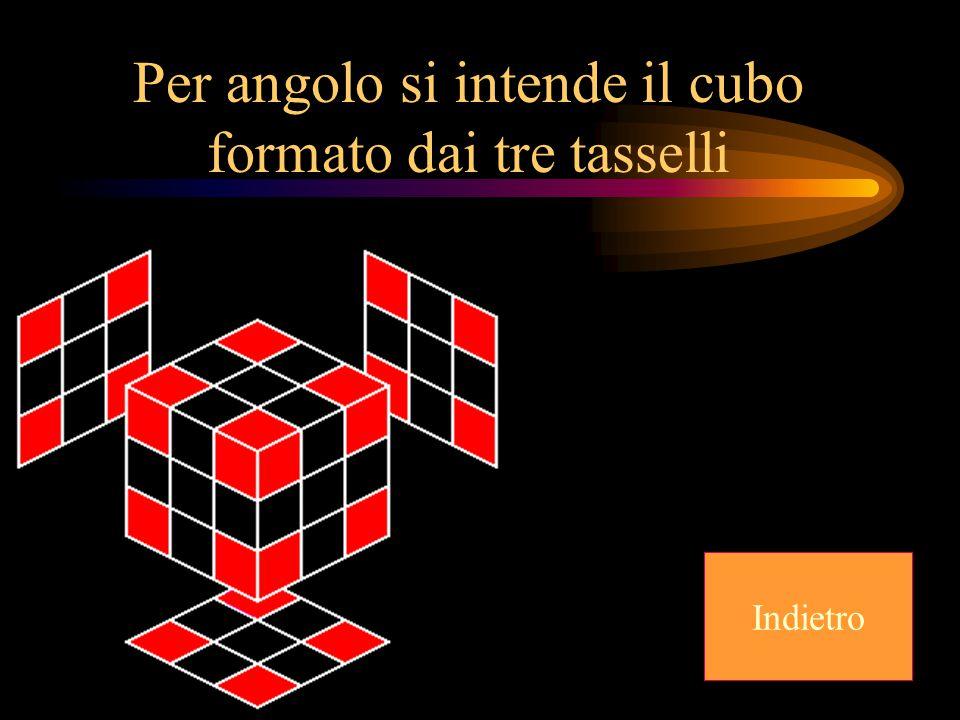 Per angolo si intende il cubo formato dai tre tasselli