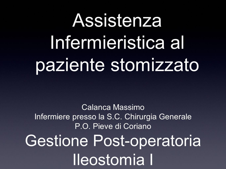 Assistenza Infermieristica al paziente stomizzato
