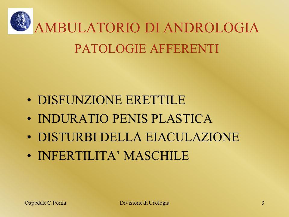AMBULATORIO DI ANDROLOGIA PATOLOGIE AFFERENTI