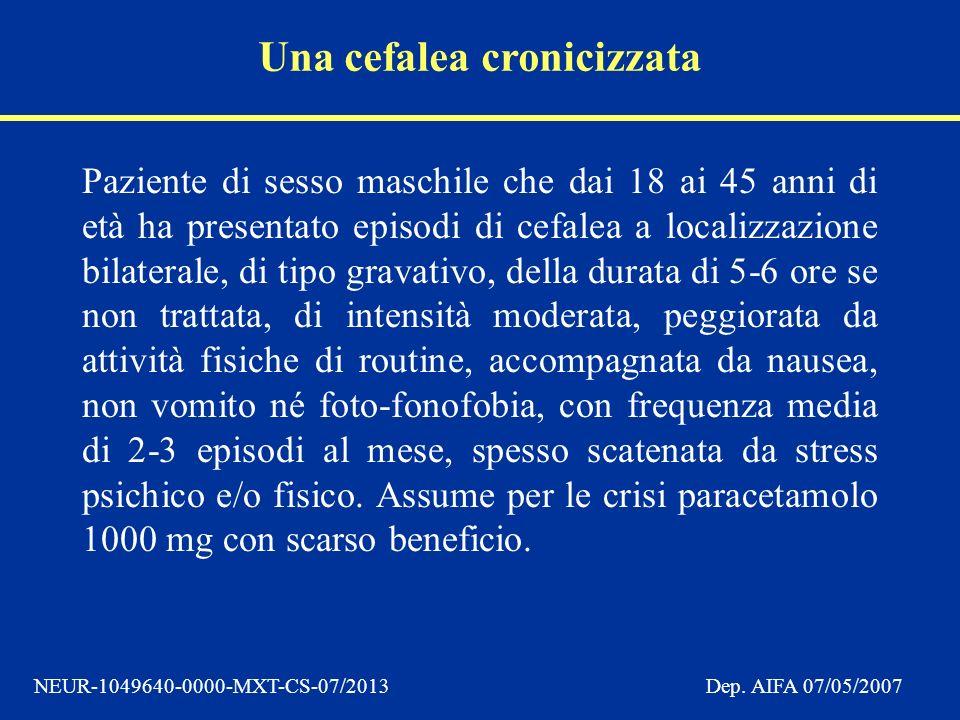 Una cefalea cronicizzata