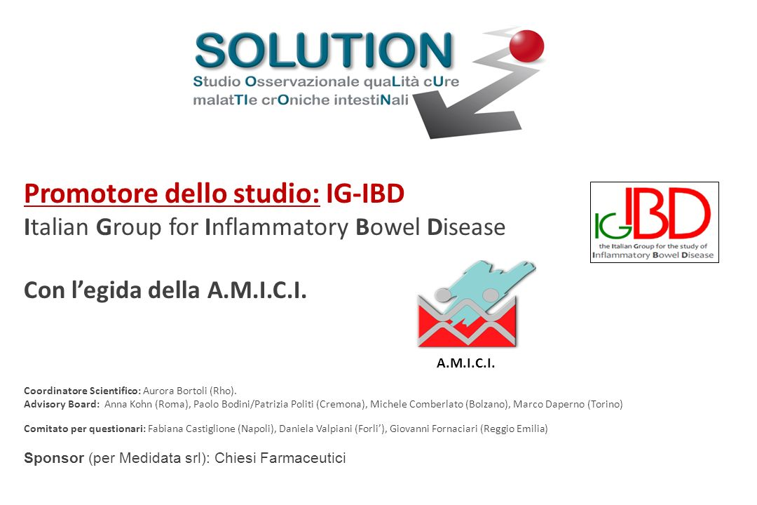 Promotore dello studio: IG-IBD