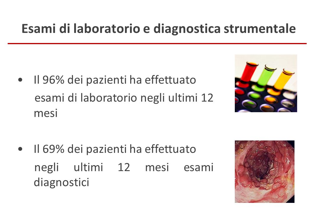 Esami di laboratorio e diagnostica strumentale