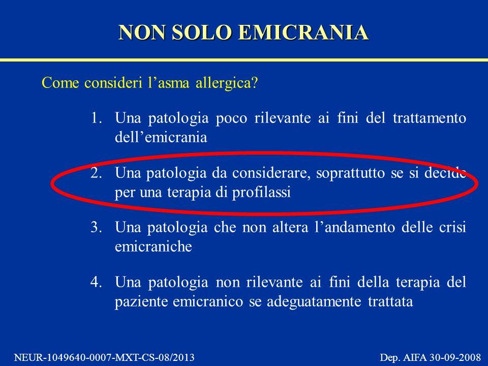 NON SOLO EMICRANIA Come consideri l'asma allergica