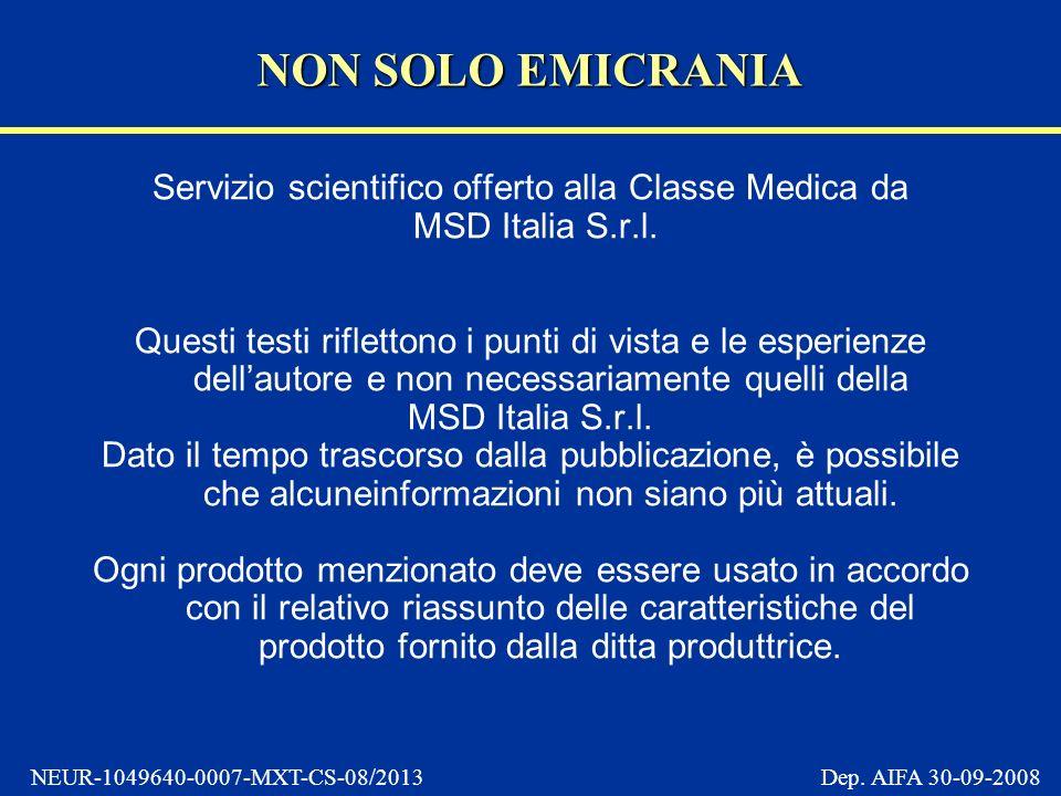 Servizio scientifico offerto alla Classe Medica da