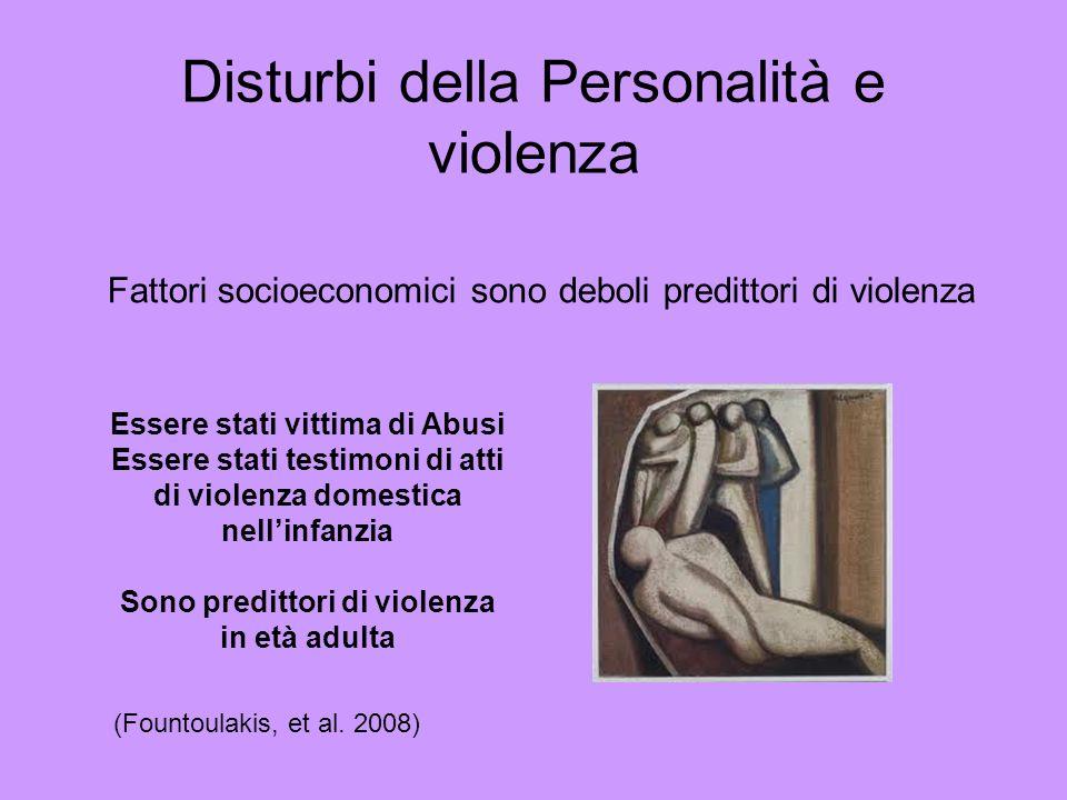 Disturbi della Personalità e violenza