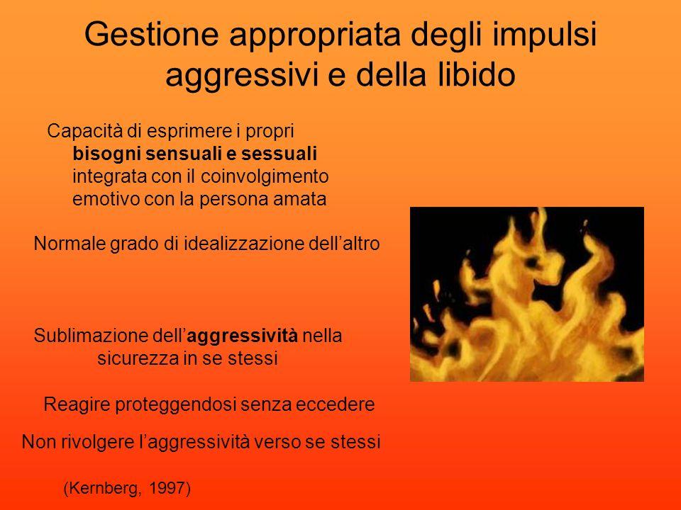 Gestione appropriata degli impulsi aggressivi e della libido