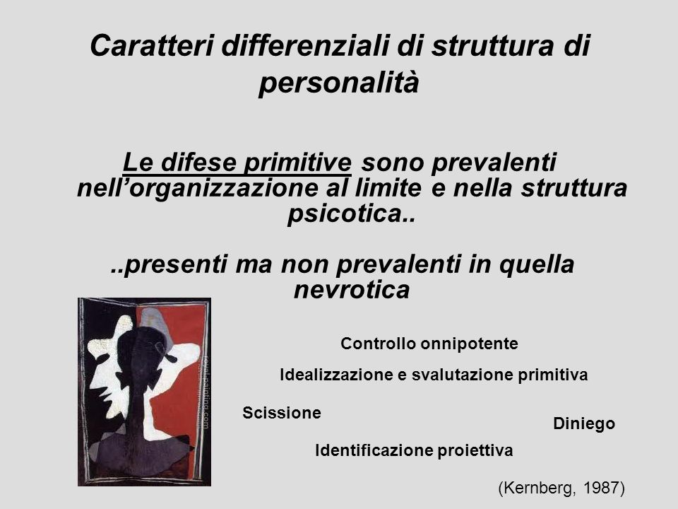 Caratteri differenziali di struttura di personalità