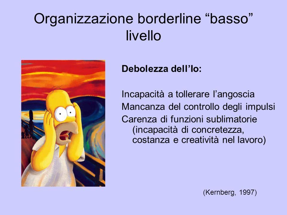 Organizzazione borderline basso livello