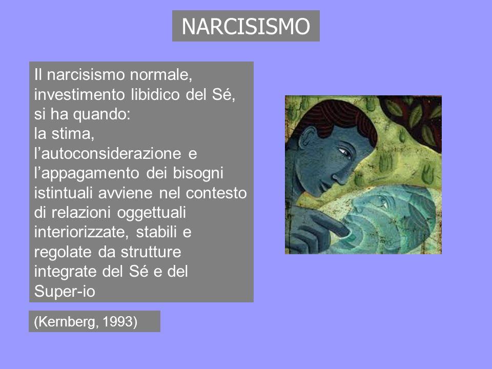 NARCISISMO Il narcisismo normale, investimento libidico del Sé, si ha quando: