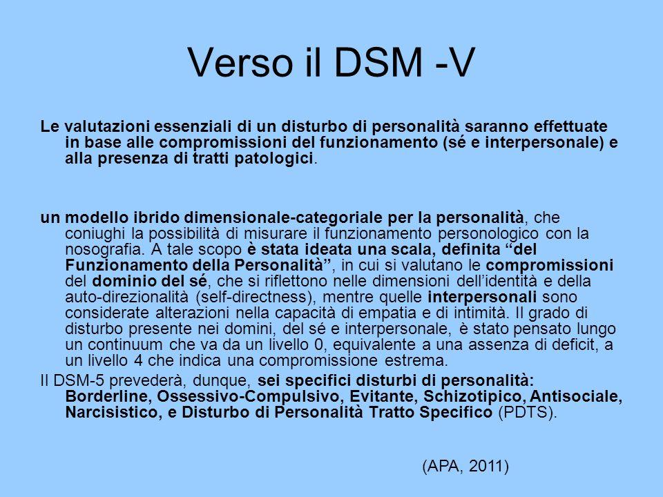 Verso il DSM -V