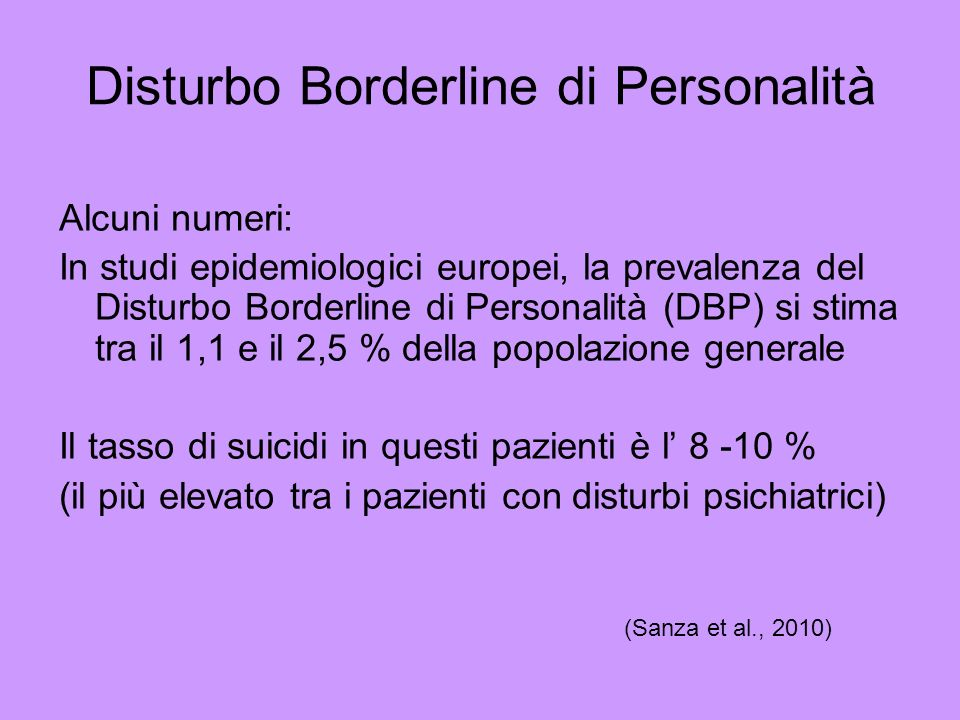 Disturbo Borderline di Personalità