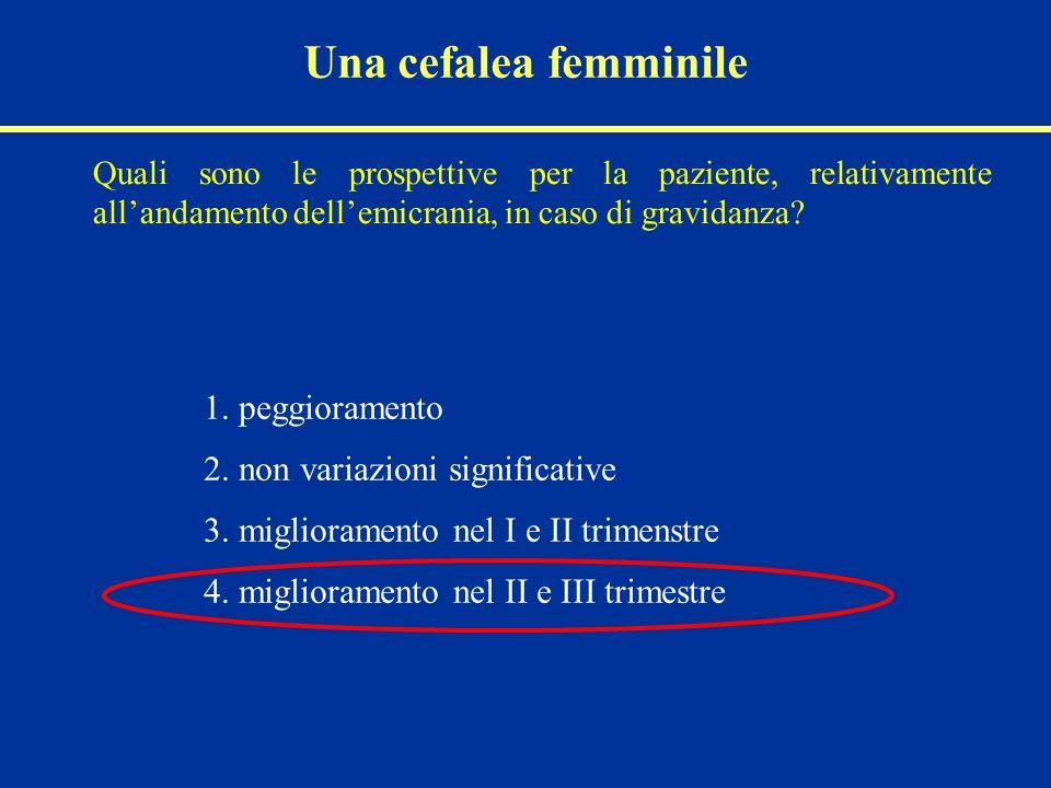 2. non variazioni significative 3. miglioramento nel I e II trimenstre