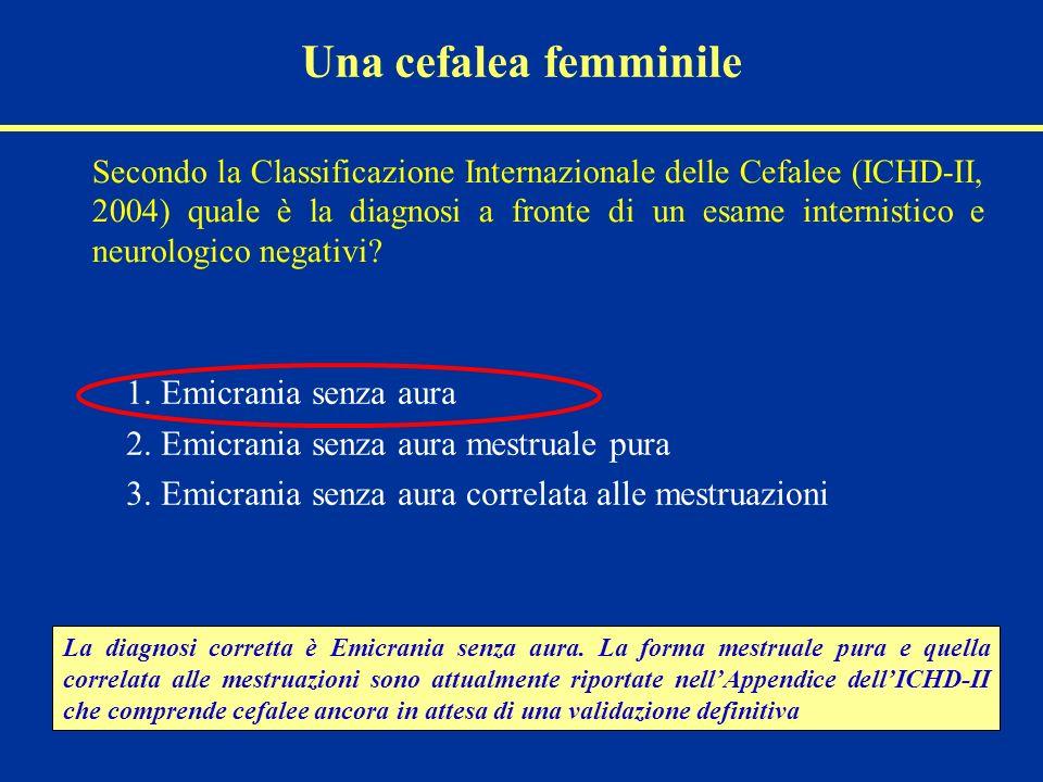 2. Emicrania senza aura mestruale pura