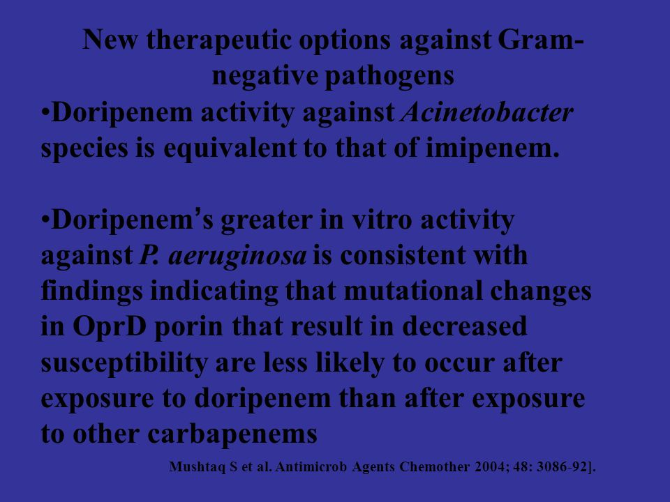 New therapeutic options against Gram-negative pathogens