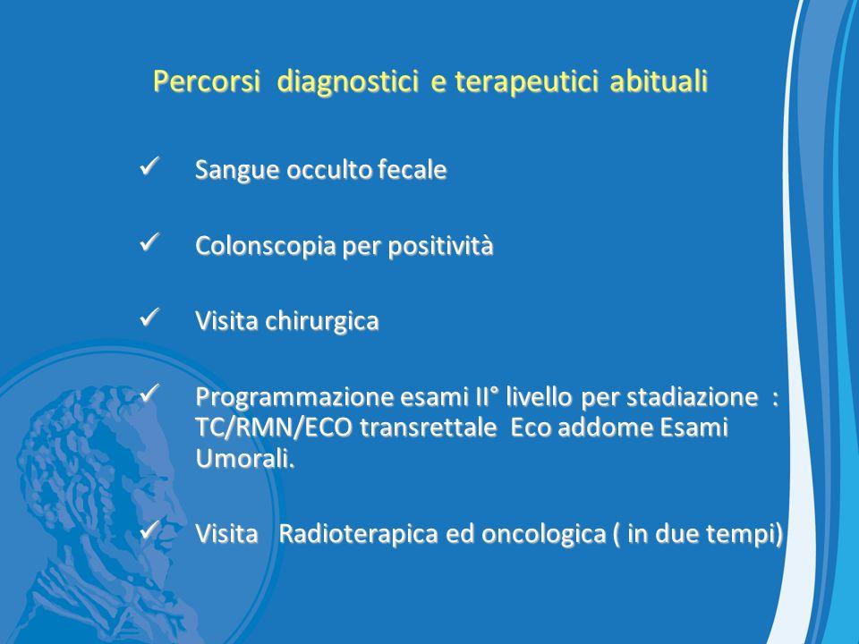 Percorsi diagnostici e terapeutici abituali