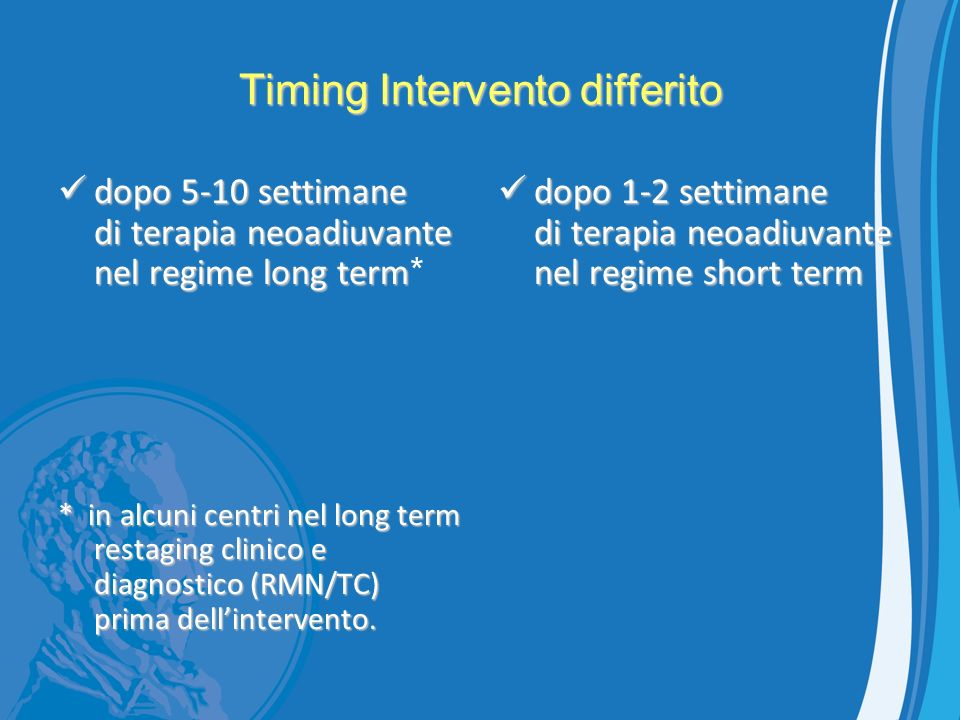 Timing Intervento differito