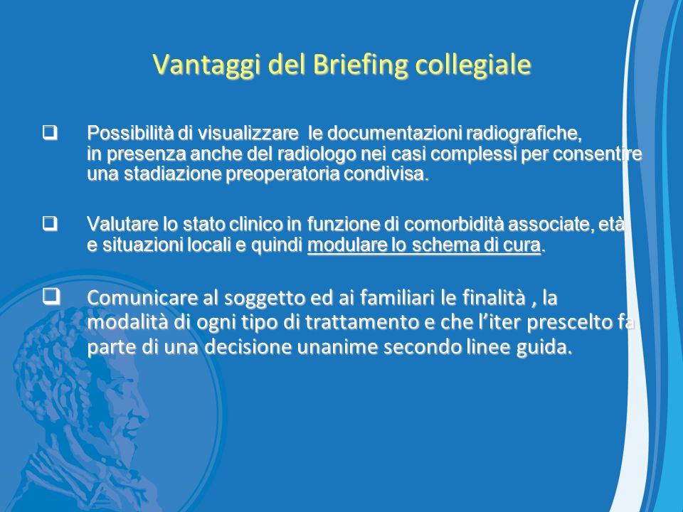 Vantaggi del Briefing collegiale