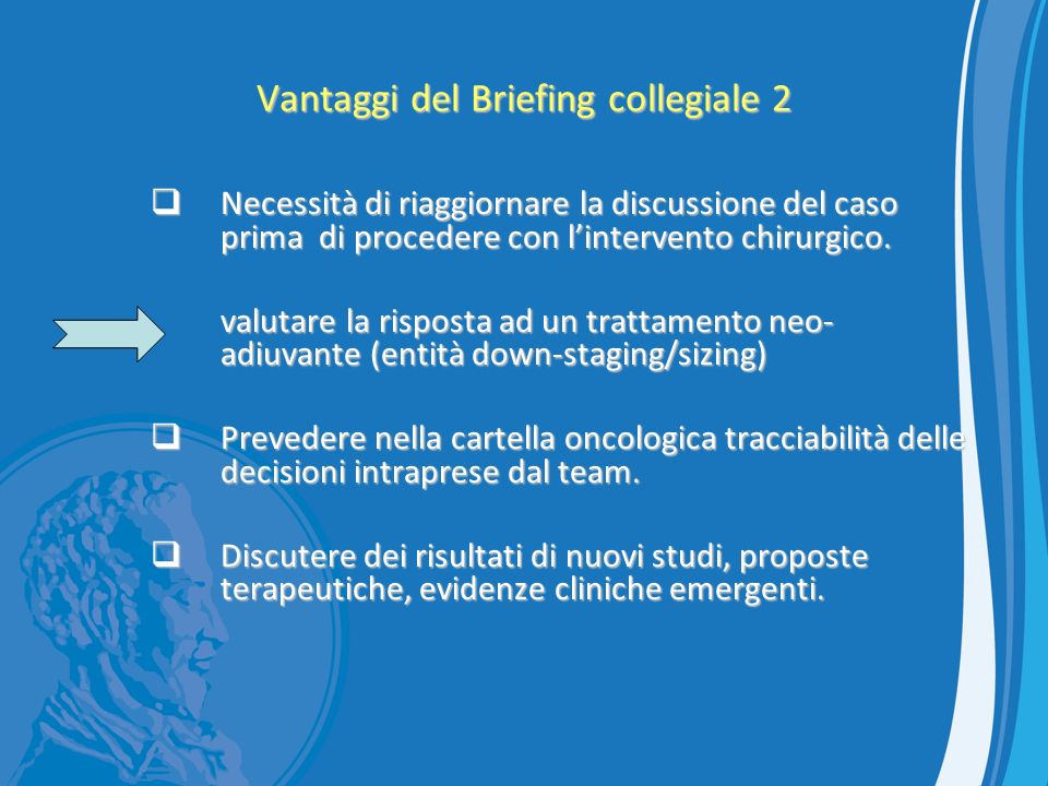 Vantaggi del Briefing collegiale 2