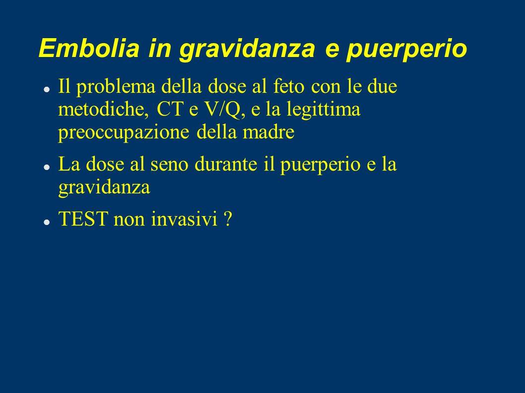 Embolia in gravidanza e puerperio
