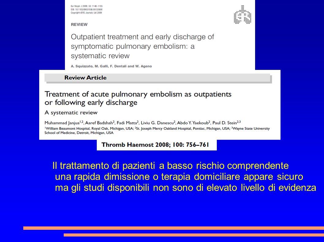 Il trattamento di pazienti a basso rischio comprendente