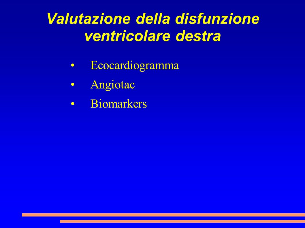 Valutazione della disfunzione ventricolare destra
