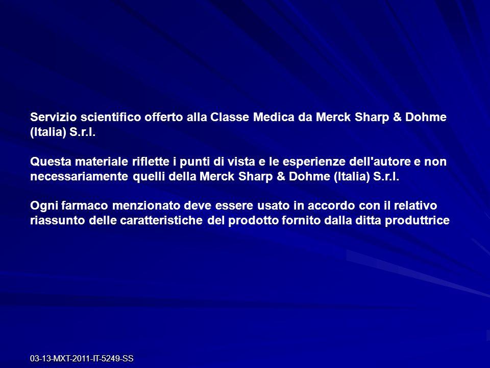 Servizio scientifico offerto alla Classe Medica da Merck Sharp & Dohme (Italia) S.r.l.